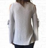 Split Sleeve Bow Sweater