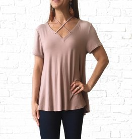 Taupe X front Tee