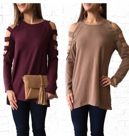 Cut-out Sleeve Sweater Tunic