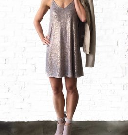 Metallic Snakeprint Racerback Dress