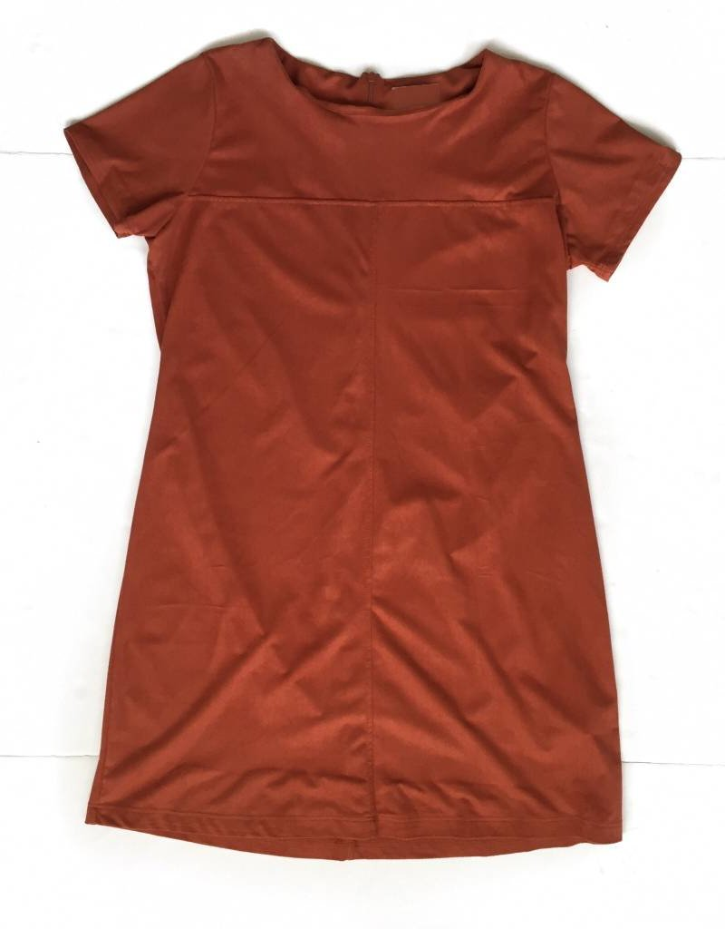 Rust Shift Suede Dress