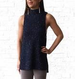 High Neck Sleeveless Sweater