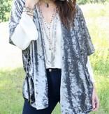 Crushed Velvet Kimono-ONE SIZE