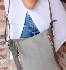 Double Zipper Crossbody