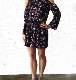 Zoey Cold Shoulder Halter Dress