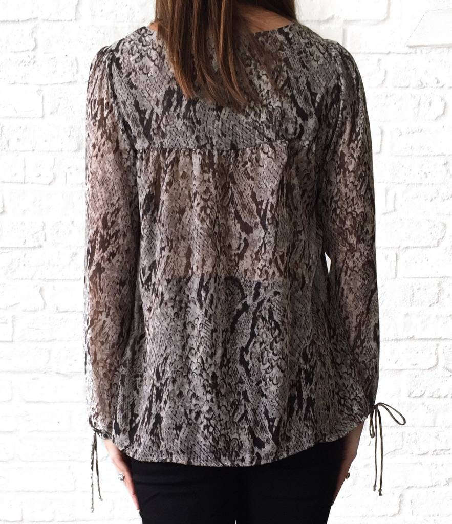Taupe Snake L/S Top
