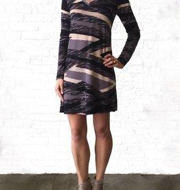 Charlotte L/S Vneck Swing Dress