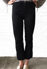 Black Cropped Flare