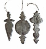 Silver Chandelier Ornaments