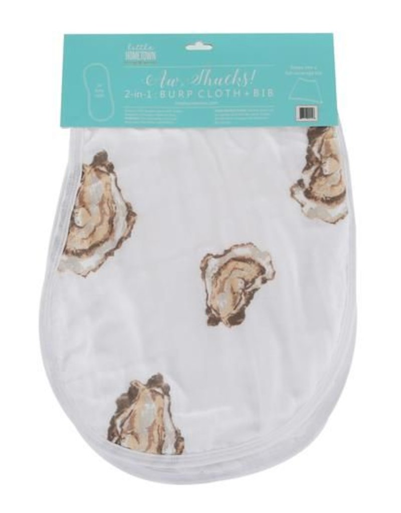 Aw Shucks! Oyster Burp Cloth/Bib