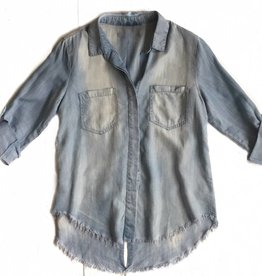 Denim Fringe Shirt