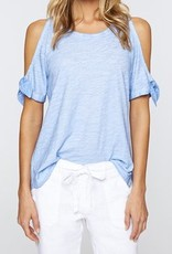 Lou Bare Shoulder Tee Icy Blue