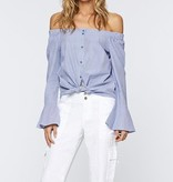 Core Stripe Off Shoulder Top