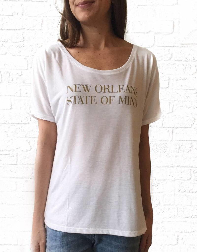 New Orleans State of Mind Gold/White Tee