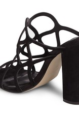 Honeycomb Black Block Heel