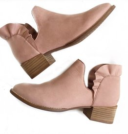 Blush Ruffle Back Bootie
