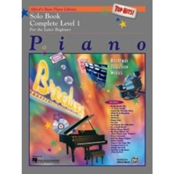 Alfred Music Alfred's Basic Piano Course: Top Hits! Solo Book Complete 1 (1A/1B)
