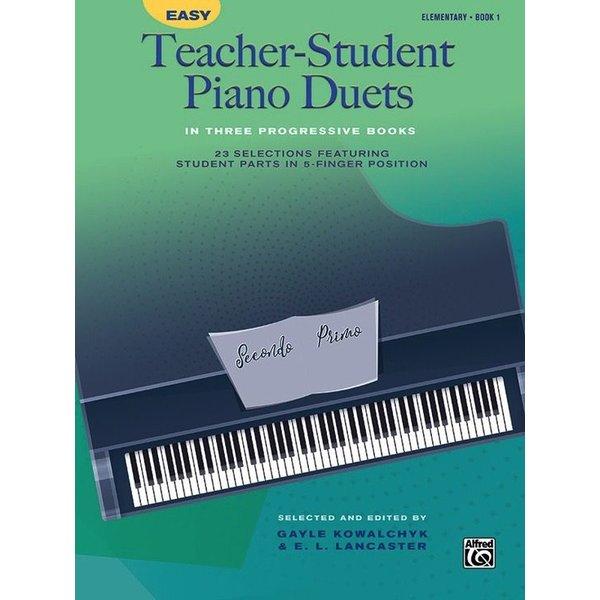Alfred Music Easy Teacher-Student Piano Duets in Three Progressive Books - Book 1