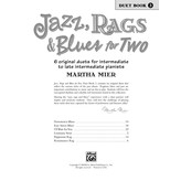 Alfred Music Jazz, Rags & Blues for Two, Book 3