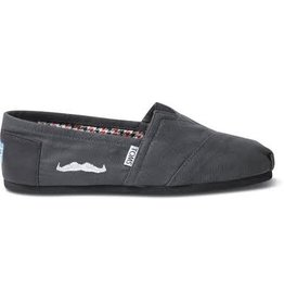 TOMS WOMEN'S TOMS CLASSIC MOVEMBER GREY BLACK