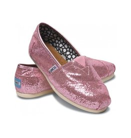 TOMS WOMEN'S TOMS GLITTER CLASSIC PINK