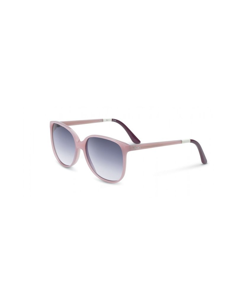 TOMS TOMS EYEWEAR SUNGLASSES MILKY LILAC/VIOLET RED/GRAY GRADIENT CLASSIC 202