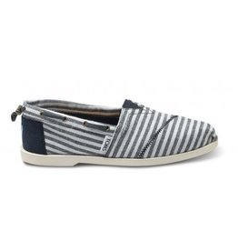 TOMS WOMENS TOMS NAVY STRIPES NAUTICAL