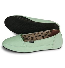 INDOSOLE WOMENS KELAPA SHOE, MINT GREEN