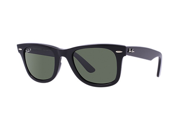 Ray Ban Wayfarer Classic Polarized (Black/Classic Green)