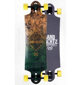 LANDYACHTZ SWITCHBLADE 38 2013 DECK WITH G852 AND YELLOW 82A MINI ZOMBIES