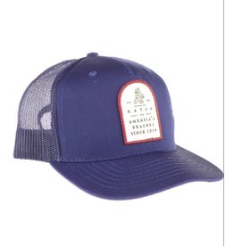KATIN USA 5 panel trucker with snap back closure and custom patch