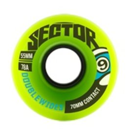 SECTOR 9 55MM 78A DOUBLEWIDE WHEEL GREEN