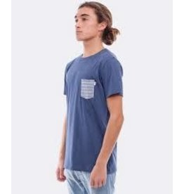 RHYTHM RHYTHM PRESS TSHIRT CHAMBRAY-BLUE L
