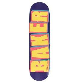 BAKER Baker Brand Logo Deck (Violet/Gold) - 8.0