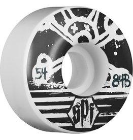 EASTERN SKATE Bones SPF Blackout Wheels - 54mm, 84B, White