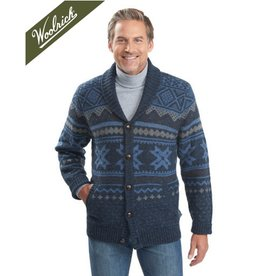 Woolrich Ultra-Line Fair Isle Cardigan Sweater