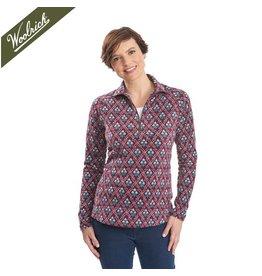 Woolrich Colwin Printed Fleece Half-Zip Pullover