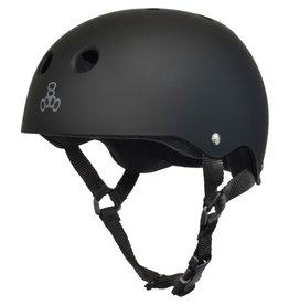 Triple 8 Helmet (Black Rubber/Black)