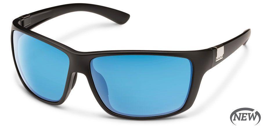 SunCloud SUNCLOUD COUNCILMAN Matte Black Frame with Polarized Blue Lens