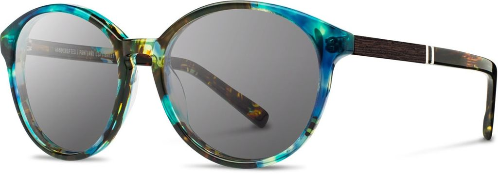 SHWOOD SHWOOD BAILEY BLUE OPAL SUNGLASSES