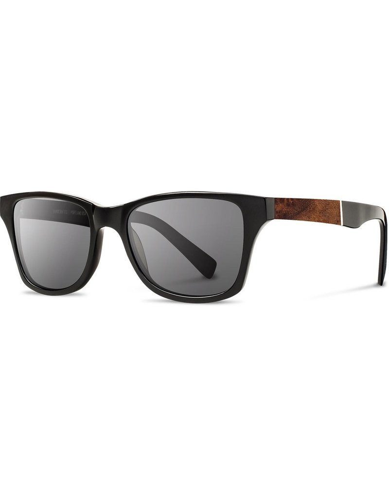 SHWOOD SHWOOD CANBY BLACK POLARIZED SUNGLASSES