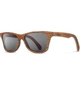 SHWOOD SHWOOD CANBY WALNUT POLARIZED SUNGLASSES