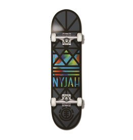 "ELEMENT ELEMENT NYJAH CROWN COMPLETE SKATEBOARD 8"" BLK/TIE DYE"