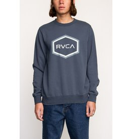RVCA RVCA MENS DOUBLE HEX CREW MIDNIGHT