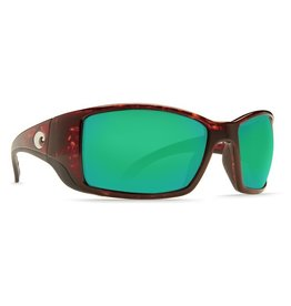 Costa Del Mar COSTA BLACKFIN TORTOISE GREEN MIRROR 580P SUNGLASSES
