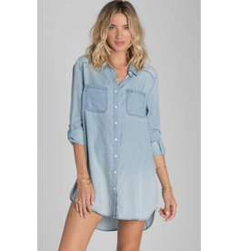 BILLABONG BILLABONG GOT THE BLUES DRESS CHAMBRAY