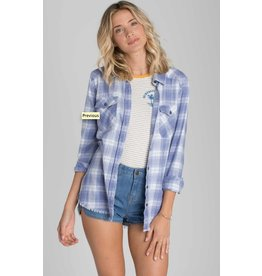 BILLABONG BILLABONG FLANNEL FRENZY SHIRT PEBBLE BLUE