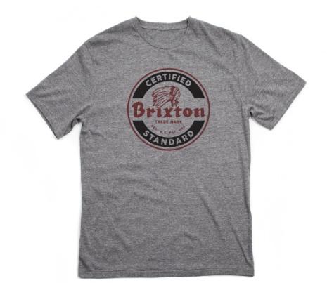 BRIXTON BRIXTON SOTO S/S STND TEE GREY