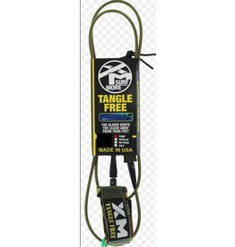 EASTERN SKATE SURF MORE XM TANGLE FREE DS COMPLITE LEASH 8' BLACK