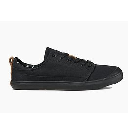 REEF LADIES WALLED LOW BLACK/BLACK